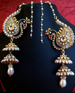 Kashmiri Jhumkas - Zaamor Diamonds