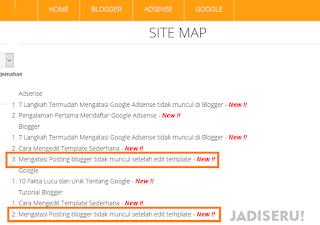 Memperbaiki Navigasi Blog ditolak adsense