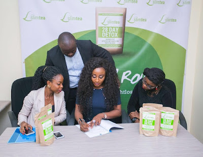 Actress Ini Edo Becomes Brand Ambassador for Slimtea Nigeria!