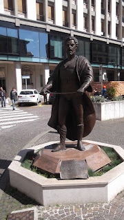 The statue of Mario del Monaco in Piazza Borsa in Treviso