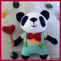 Panda vestido amigurumi