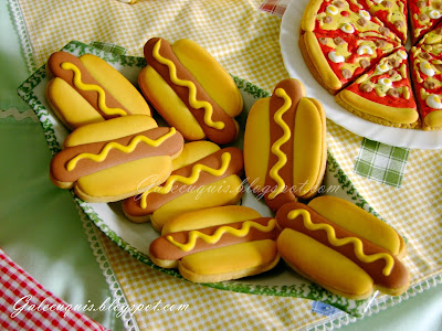 galletas decoradas perritos calientes