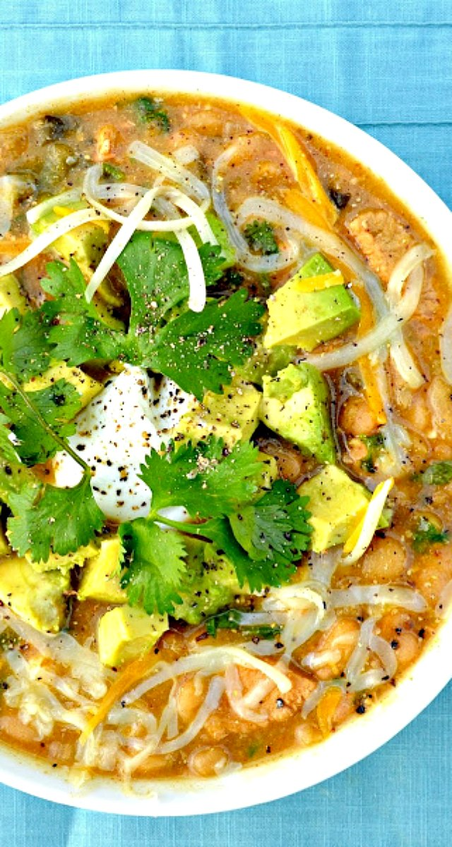 Chicken Chili Verde with Avocado is packed with flavor and could easily be an award winning recipe from Serena Bakes Simply From Scratch.