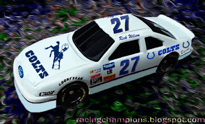 Rick Wilson #27 Indianapolis Colts Ford Racing Champions 1/64 NASCAR diecast blog 1997 Brickyard 400 Indy NFL