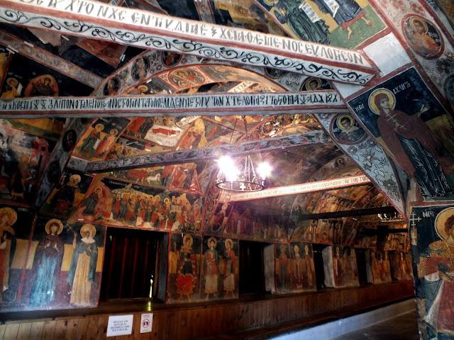 Pinturas del interior de la Iglesia de la Natividad en Arbanasi