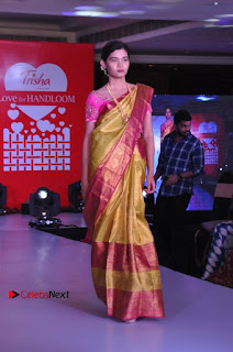 South Indian Celebrities Pos at Love For Handloom Collection Fashion Show  0084.jpg