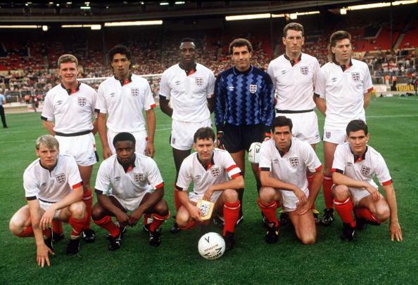 Formación de Inglaterra ante Chile en Rous Cup, 23 de mayo de 1989
