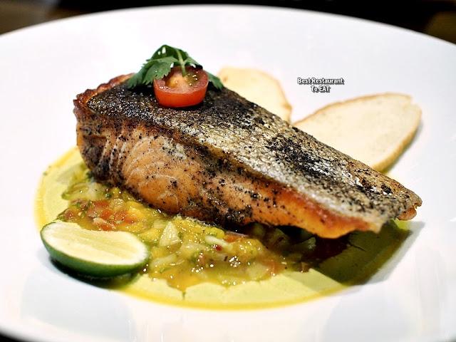 TOMMY THONGCHAI JAYA ONE  Menu - Pan-Seared Salmon Trout With Mango Salsa
