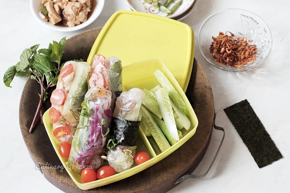 Vegan spring roll recipe (www.culinarybonanza.com)