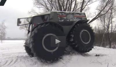 Δεν το σταματάει τίποτα: Το ρώσικο όχημα τέρας! (Βίντεο)