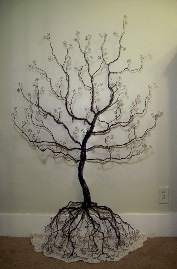 Matin lumineux sculptures fil de fer for How to make a wire tree of life sculpture