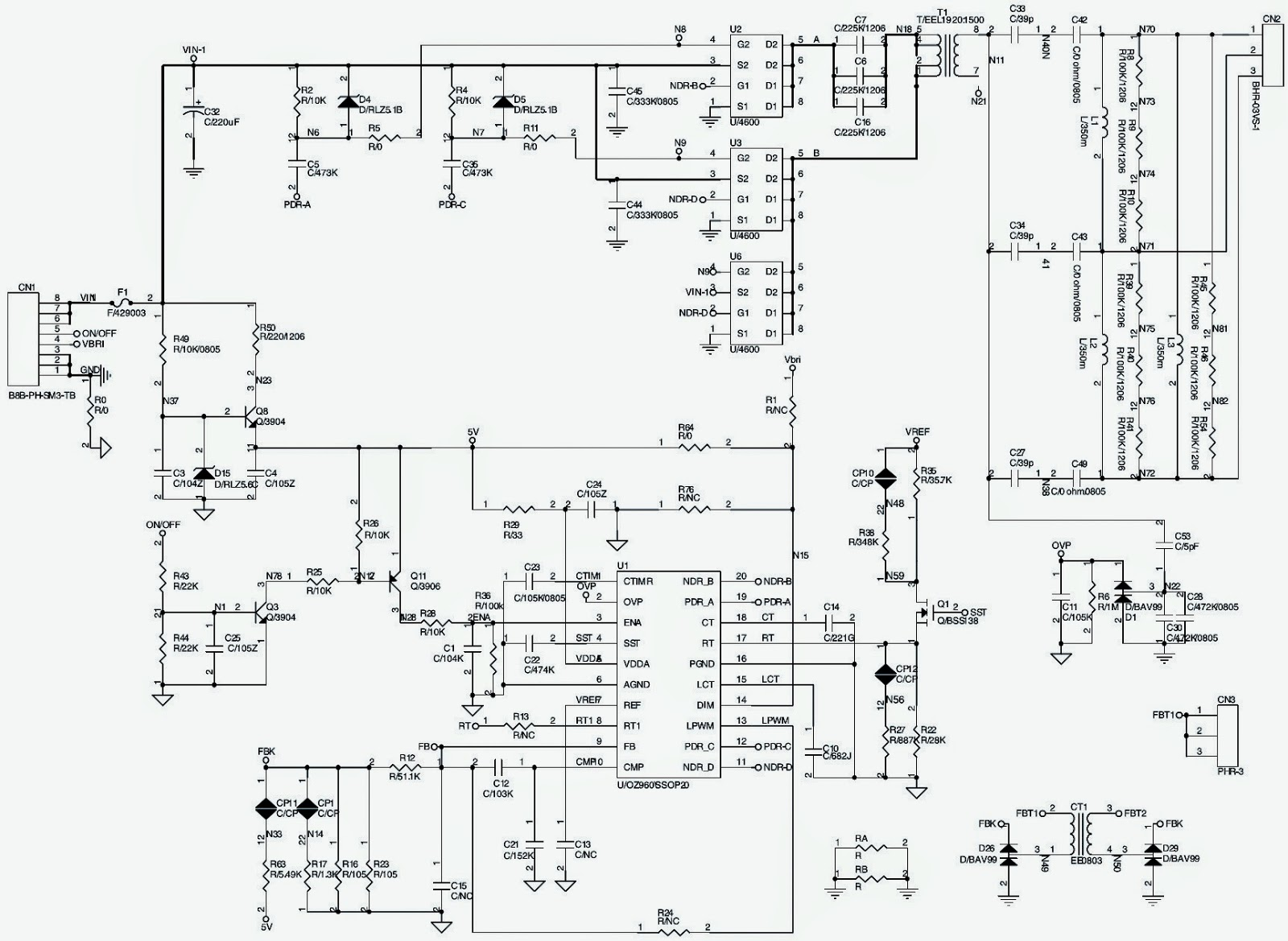 Lcd Tv Back Light Inverter Board Schematics Circuit Diagrams Diagram Click On The To Magnify