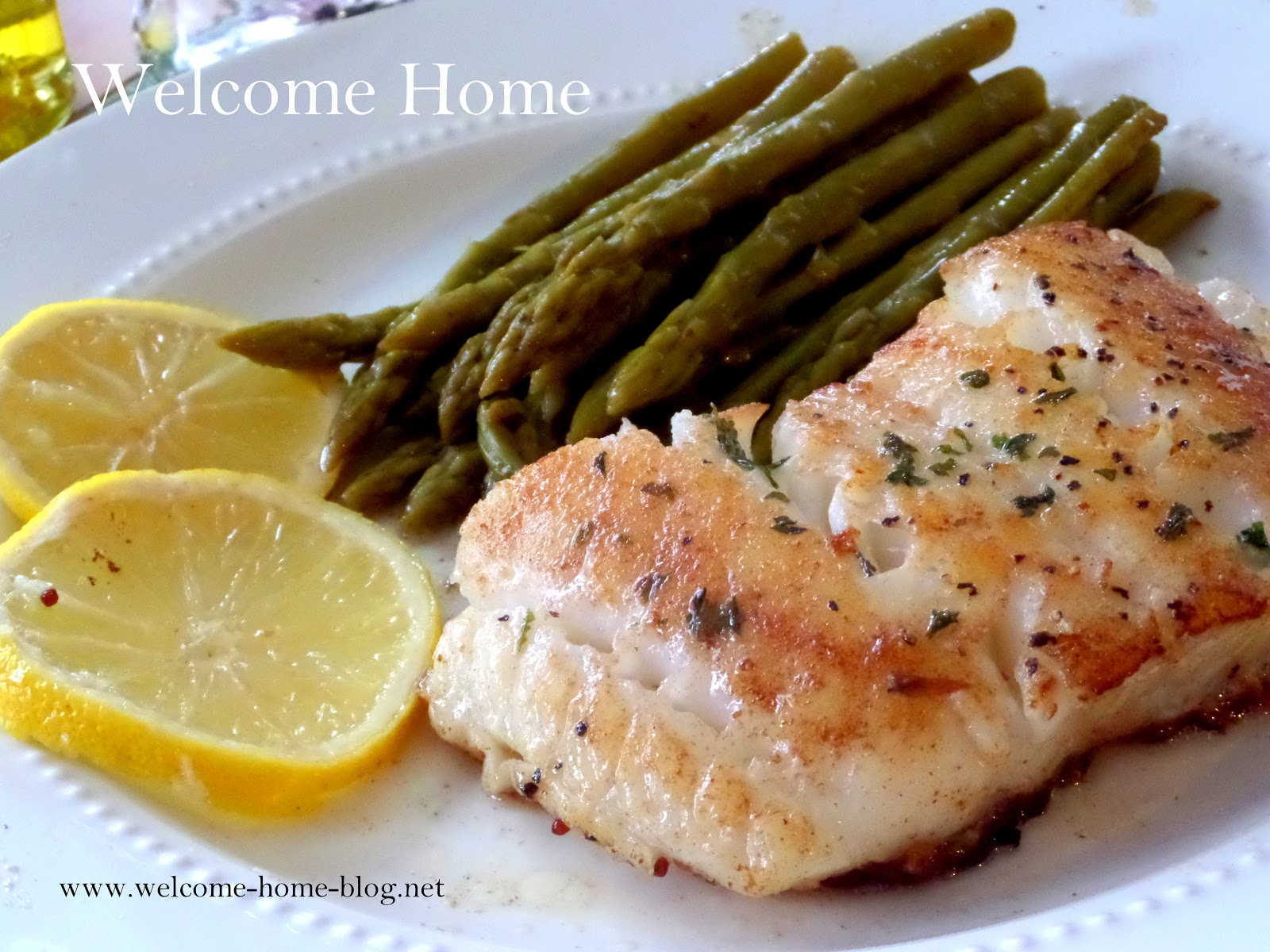 Welcome Home Blog: Pan Seared Chilean Sea Bass
