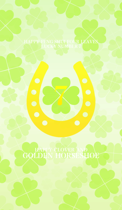 Happy clover and golden horseshoe Lucky7