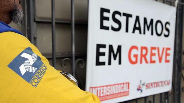 Trabalhadores dos Correios entram em greve amanhã