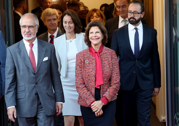 Queen Silvia who is the founder of The Childhood Foundation attended the opening of Childhood-Haus. Justice Minister Katarina Barley