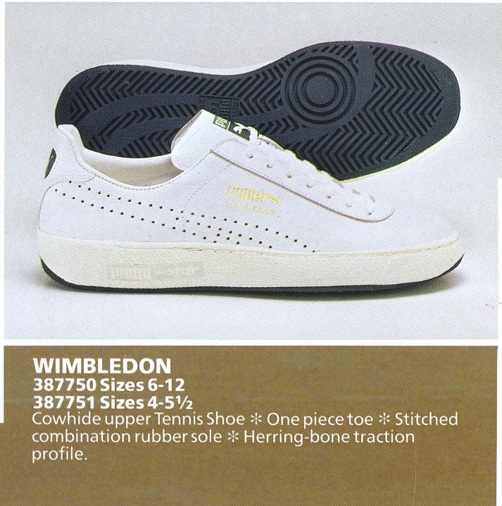 675c548e6f50 1984  Wimbledon  with re-designed herring bone sole with pivot point. Puma  France also produced a   ...