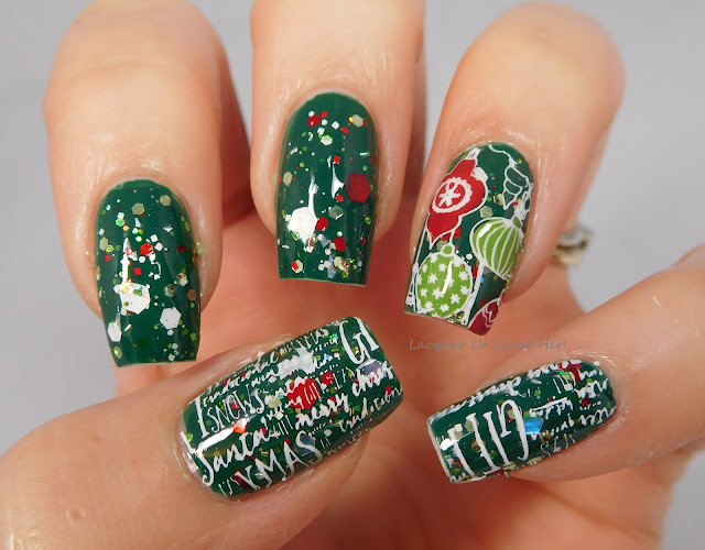 Messy Mansion MM82XL over Zoya Wyatt and Jindie Nails Just Elfing Around