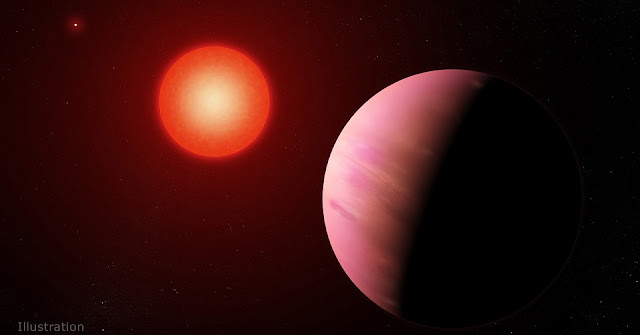 The newfound planet K2-288Bb, illustrated here, is slightly smaller than Neptune. Located about 226 light-years away, it orbits the fainter member of a pair of cool M-type stars every 31.3 days. Credit: NASA's Goddard Space Flight Center/Francis Reddy
