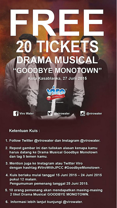 Free 20 Tickets Drama Musical Goodbye Monotown
