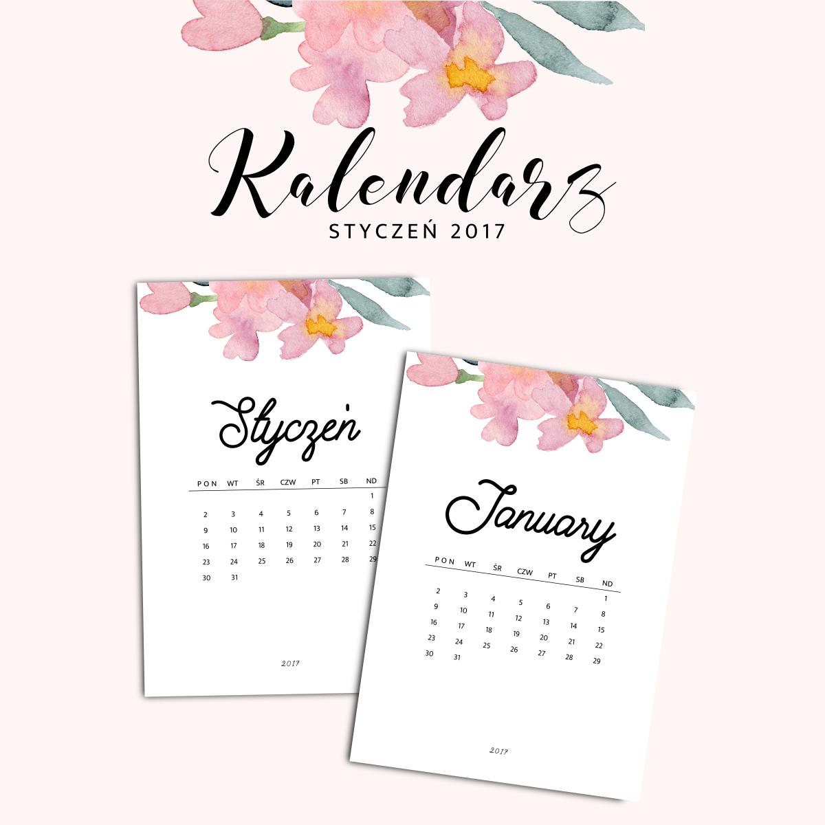 kalendarz 2017 do druku do pobrania za darmo