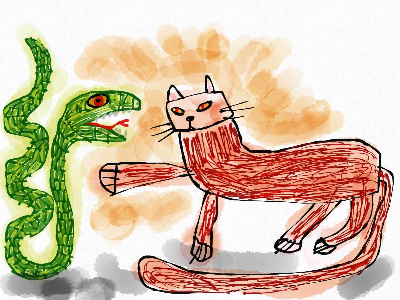蛇と闘う猫の夢の夢占い 猫の夢の夢占い