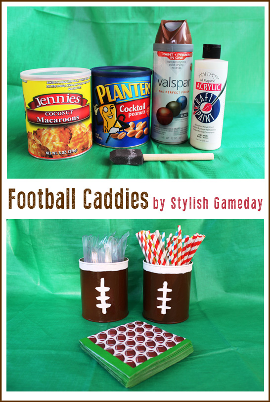 Stylish Gameday : Elevate your tailgate - Footbal Silverware Caddie