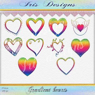Gradient hearts