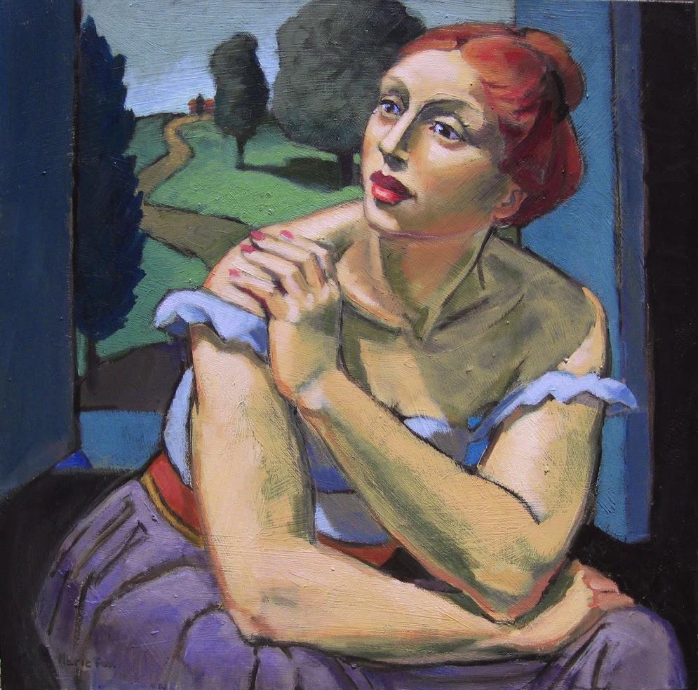 Figurative Painting Of Woman Female Figuration