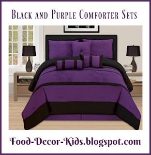 Black and Purple Comforter Sets