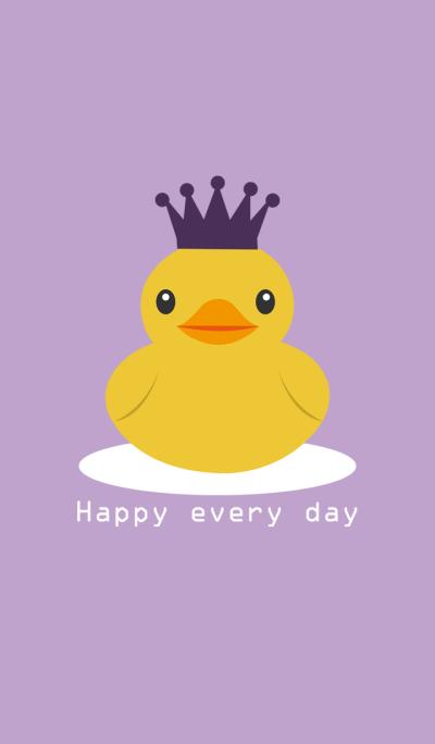 雪上的皇冠小鸭
