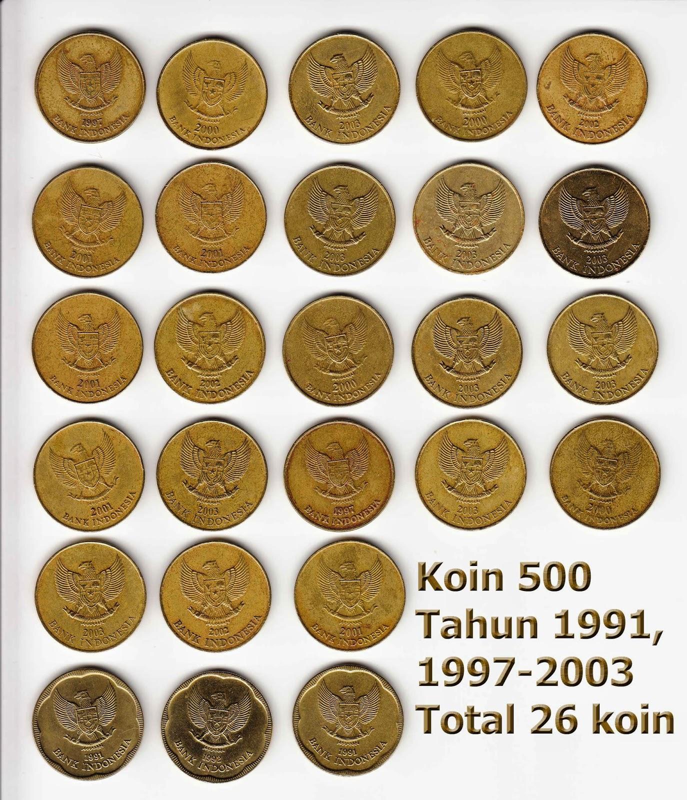 Image Gambar Untuk Semua Souvenir Koin Logam 500 Kuning