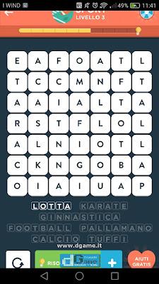 WordBrain 2 soluzioni: Categoria Sport (7X7) Livello 3
