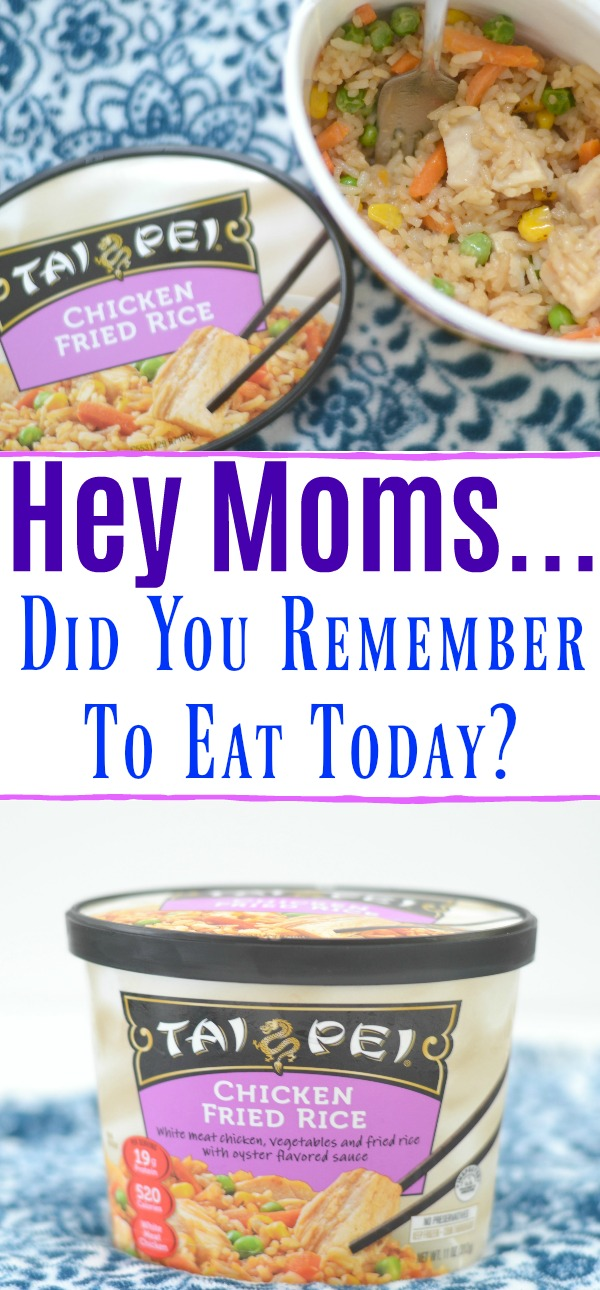 Asian Food, Fried Rice, Frozen Fried Rice, easy lunch ideas, Tips For Moms Who Forget To Eat, Tai Pei frozen entrees, lunch ideas, asian inspired frozen meals