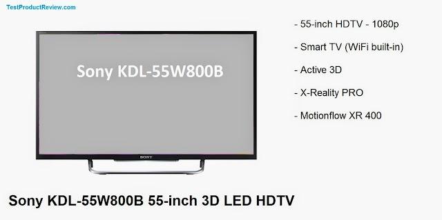 Sony KDL-55W800B 55-inch 3D LED HDTV