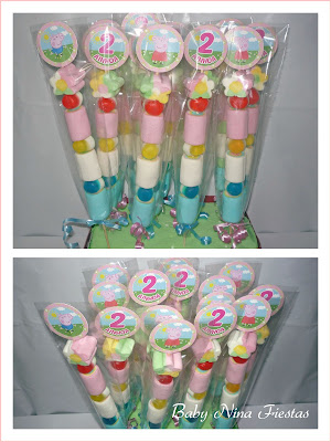 kit cumpleaños Peppa Pig brochetas