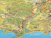 Παλιός χάρτης του Μονοπατιού του Μύρσωνα