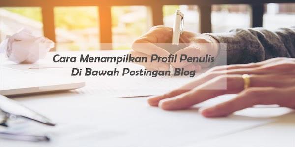 Cara Menampilkan Profil Penulis Di Bawah Postingan Blog