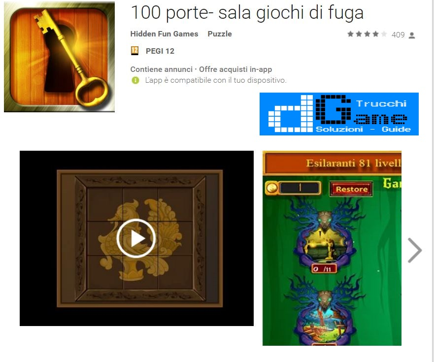 Soluzioni 100 porte- sala giochi di fuga (Doors Room Escape 2017) di tutti i livelli | Walkthrough guide