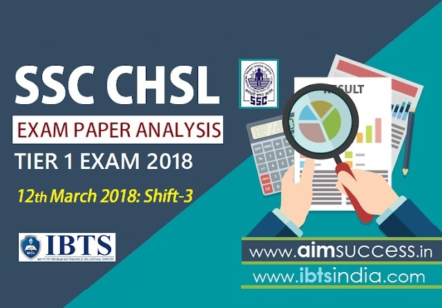 SSC CHSL Tier-I Exam Analysis 12th March 2018: Shift - 3