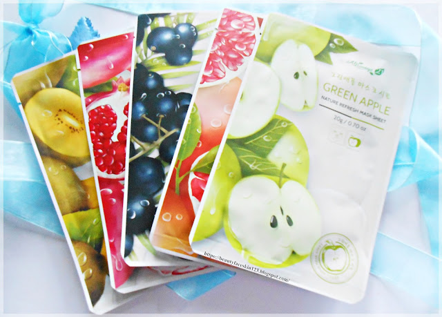 Always21 Nature Refresh Mask SheetAcai Berry, Grapefruit , Gold Kiwi, Pomegranate, Green Apple