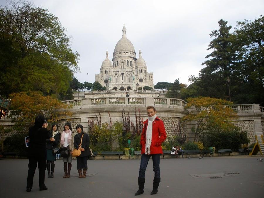 Basílica del Sagrado Corazón, situado en lo más alto de la colina de Montmartre.