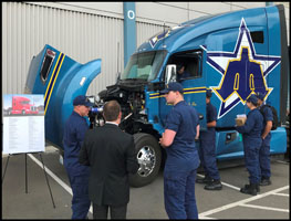 Kenworth T680 Advantage on display in the Hiring Our Heros Booth