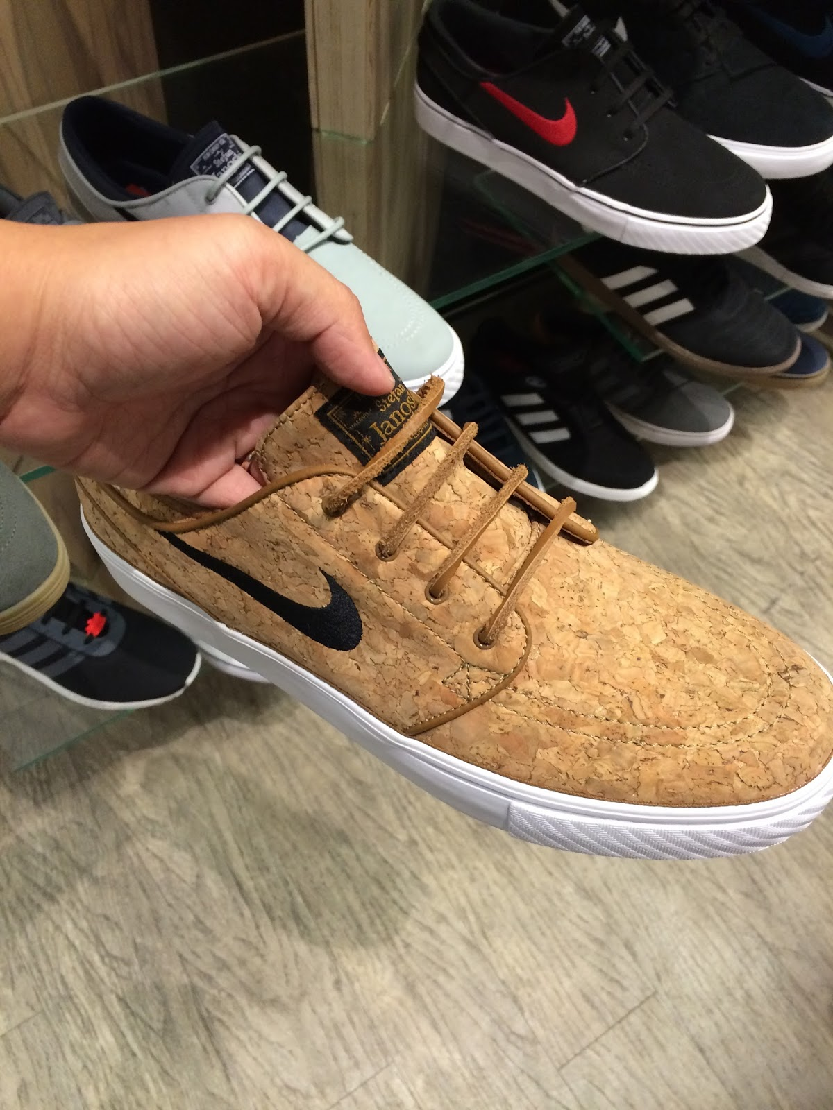more photos b5c01 02bcb The newest addition to the Sun Diego Fashion Valley shelves- the Nike SB  Zoom Stefan Janoski Elite Cork Skate Shoes. Yes, cork! A sales associate  shared ...