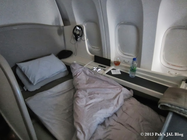 The attentive cabin attendant will make your bed every time you get up.