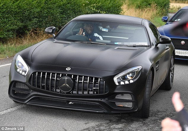 Manchester United striker Romelu Lukaku buys a new £102,000 Mercedes AMG-GT Coup