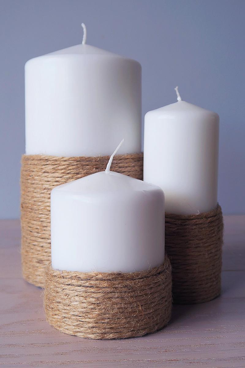 candelabros adornos velas manualidades diy