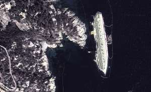 Maps relitto Costa Concordia