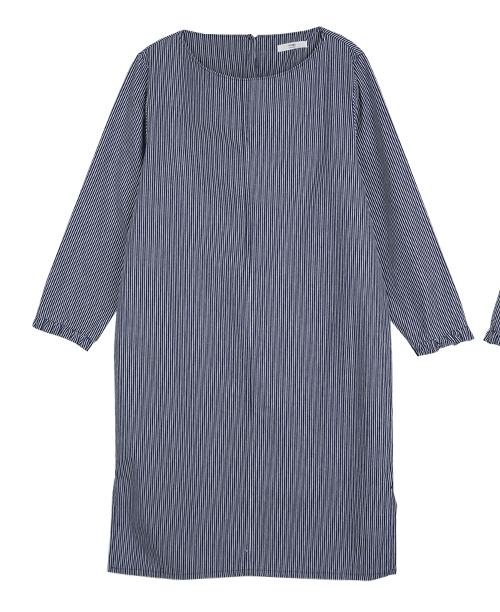 Pinstriped Shift Dress