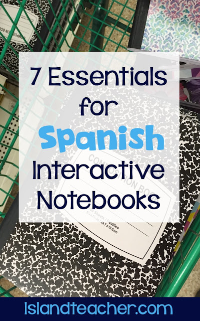 Essential Materials for Spanish Interactive Notebooks